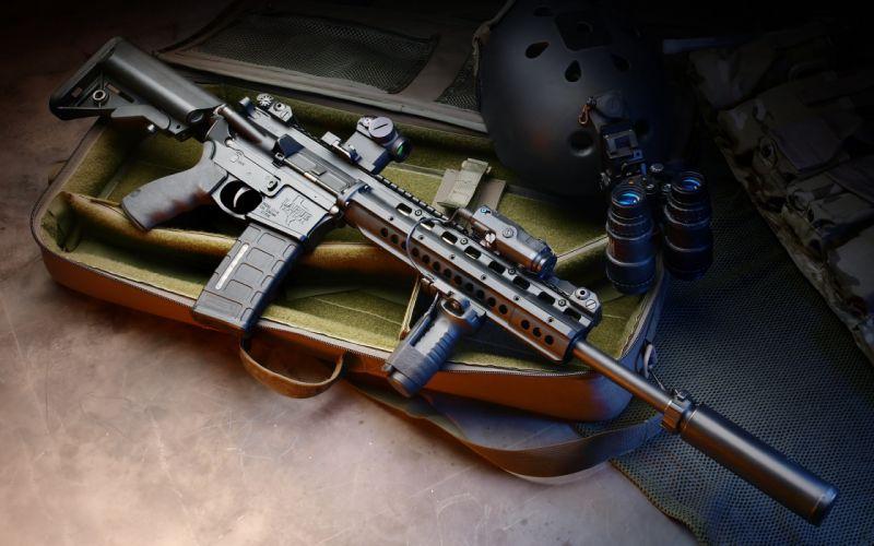 assault rifle m4 machine weapon gun military police wallpaper