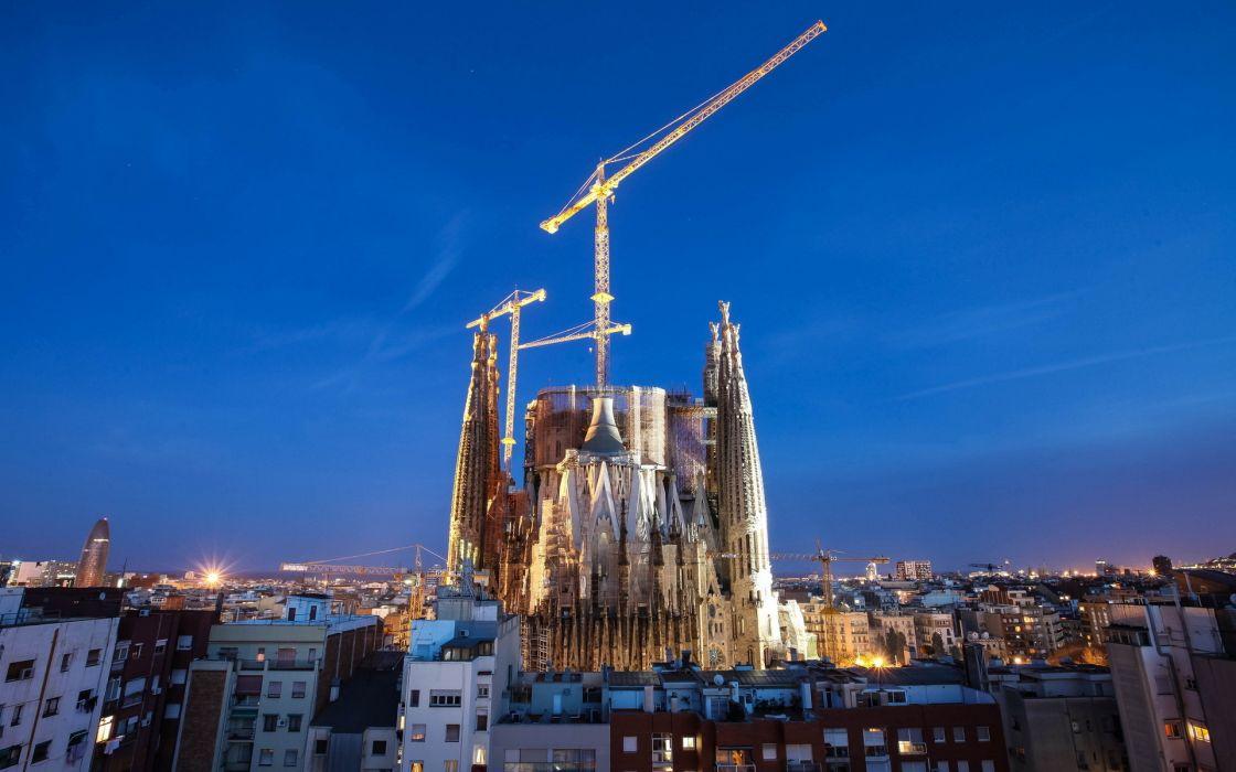 Barcelona AeYaeYcity Night Wallpaper