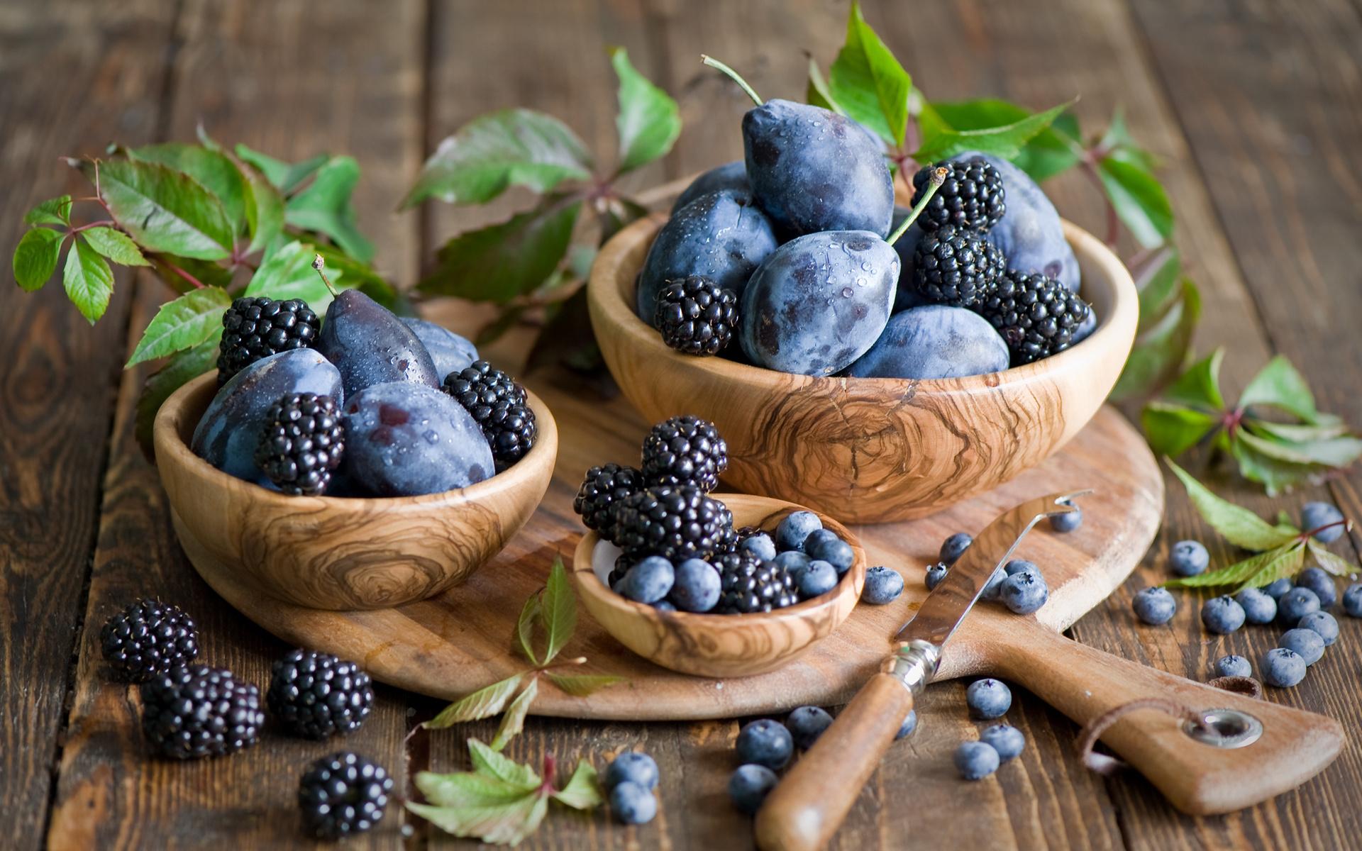 Blackberry fruit wallpaper - Blackberries Blueberries Still Life Fruit Wallpaper 1920x1200 162684 Wallpaperup
