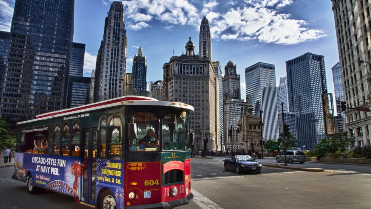 building usa chicago america bus wallpaper