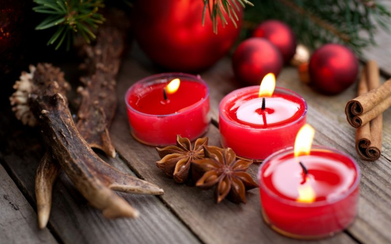 candles cinnamon star anise red wallpaper