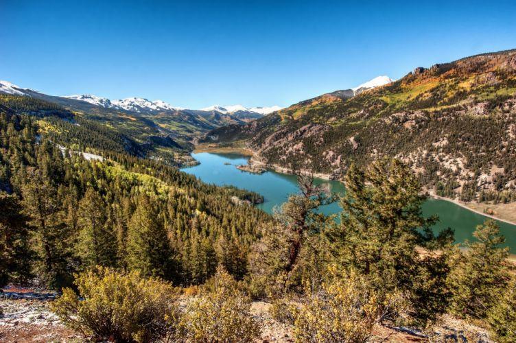 Colorado Rocky Mountains forest mountains landscape lake wallpaper