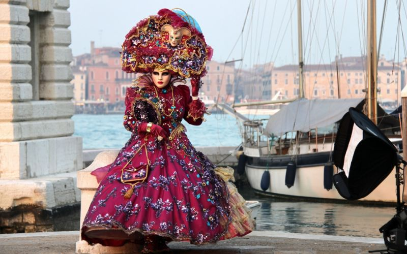 costume mask venice carnival wallpaper