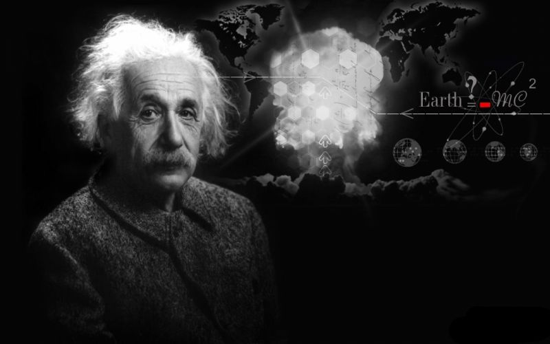 Einstein the speed of light the theory of relativity wallpaper
