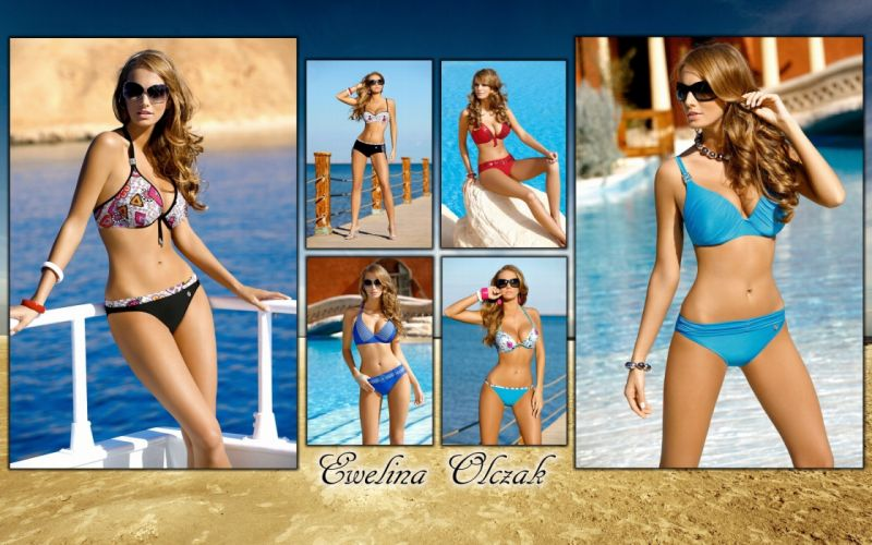Evelina Olczak girl model swimwear f wallpaper