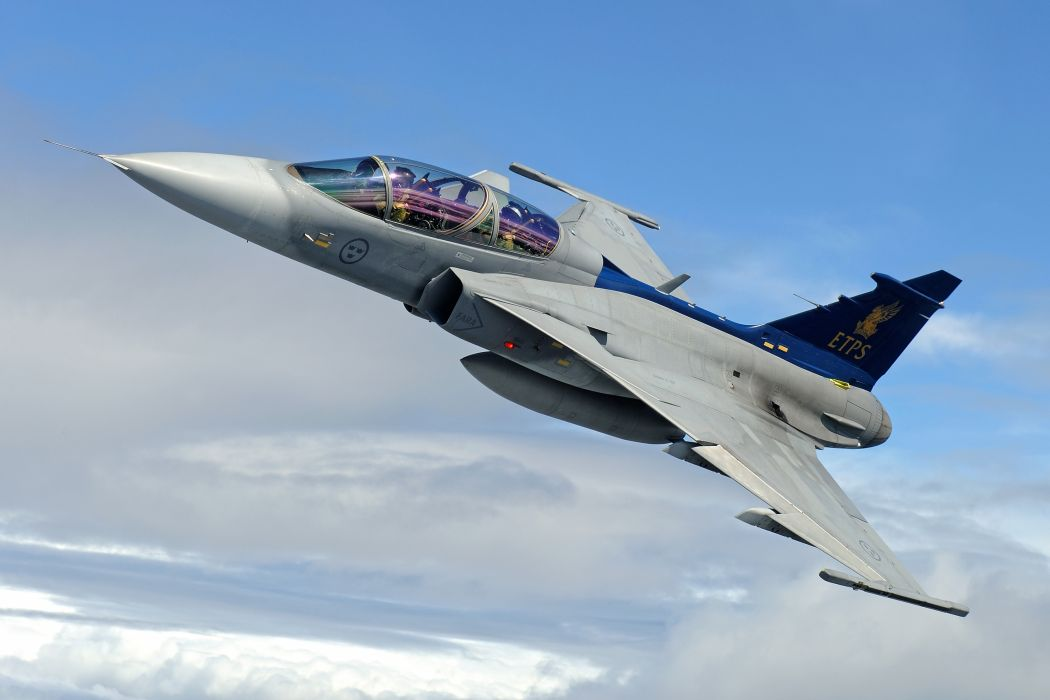 fighter multi-purpose gripen jas-39 jet military wallpaper