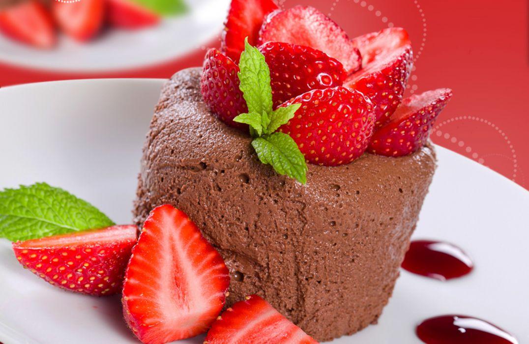 food strawberries dessert sweet berries   d wallpaper