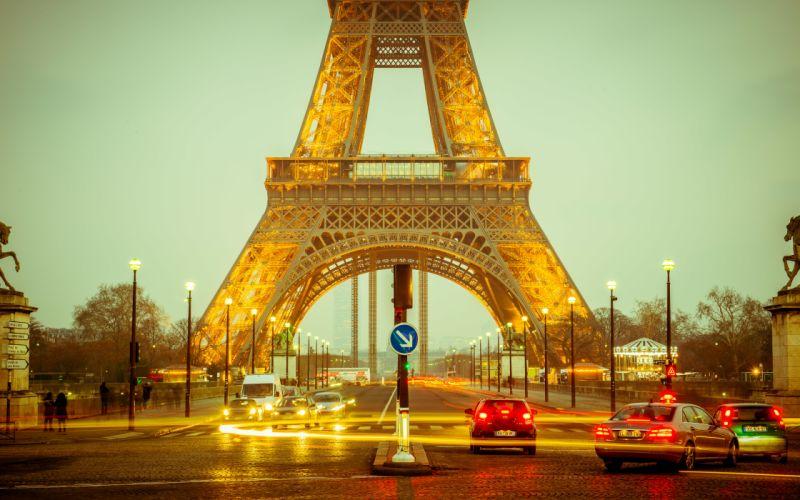 France Eiffel Tower night paris wallpaper