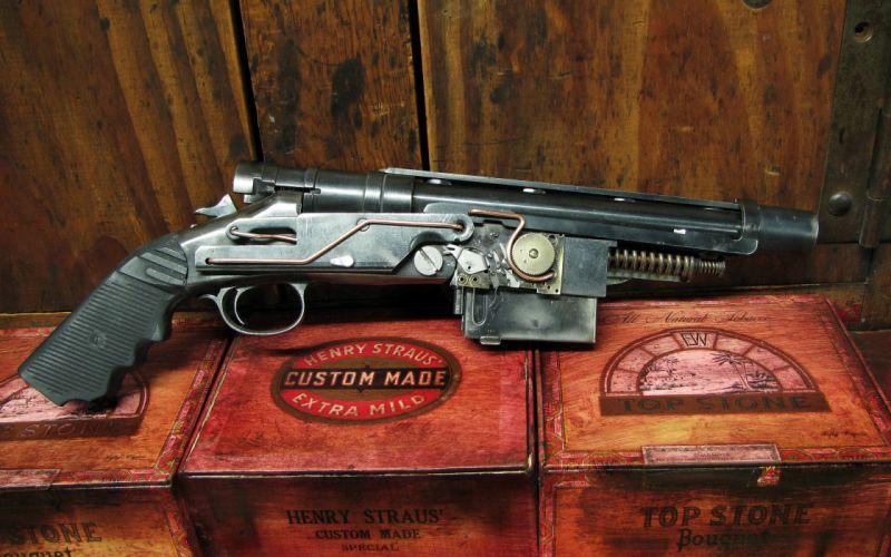 gun steampunk grand approximiser 3 shot pistole weapon wallpaper
