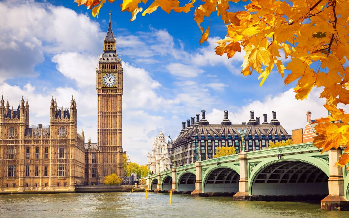 london great britain england westminster palace autumn wallpaper