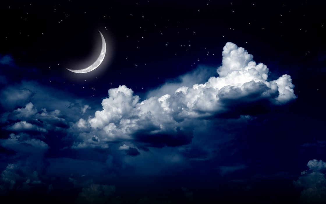 moonlight moon night nature landscape clouds stars sky   g wallpaper