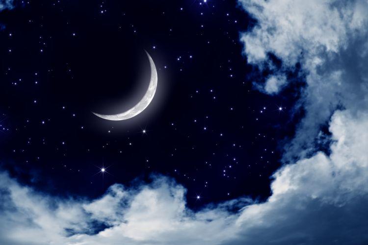 moonlight moon night nature landscape clouds stars sky wallpaper
