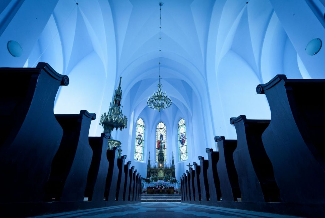 Church Cathedral Mosque Blue Romania design wallpaper