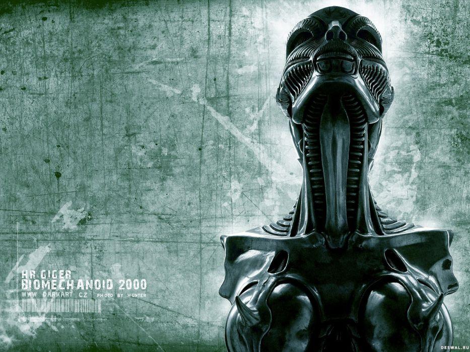 dark alien sci-fi wallpaper