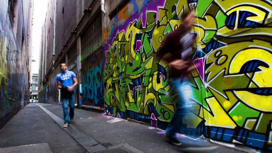 Grafitti Alleyway Australia Melbourne f wallpaper