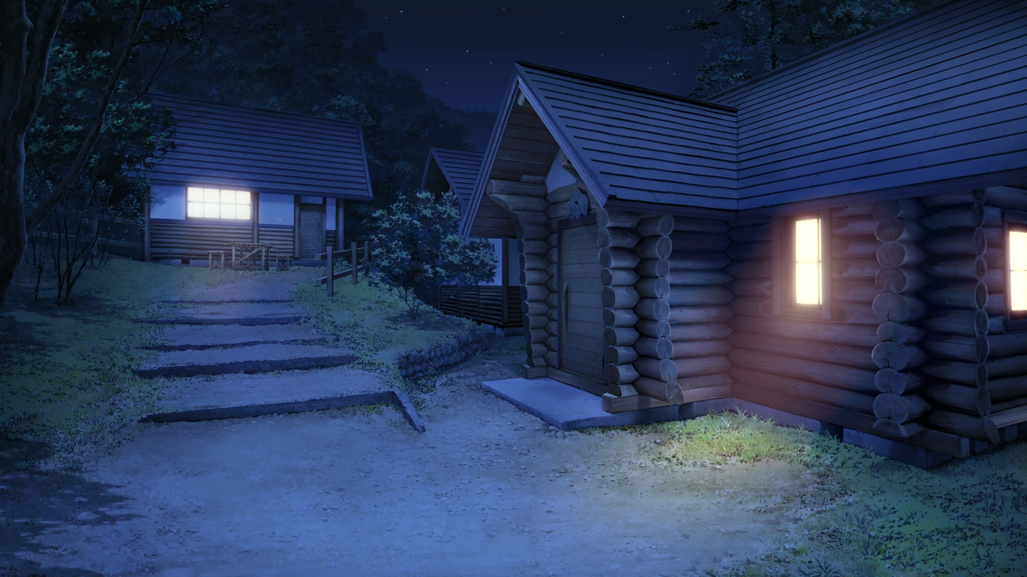 koiken otome night nobody scenic tree wallpaper