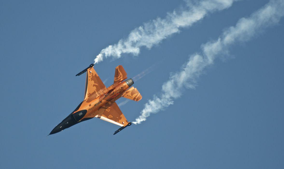 netherlands f-16 am a fighter plane military jet wallpaper
