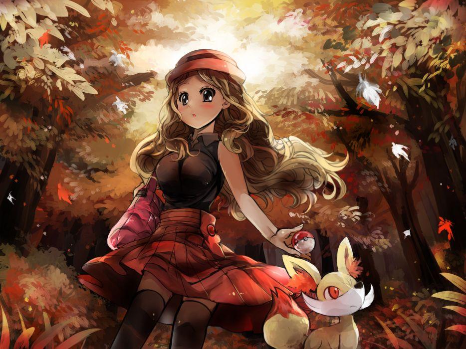 pokemon fennekin pokemon revanche serena (pokemon) wallpaper