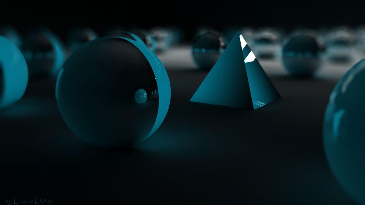 pyramid  fantasy  sphere  blur wallpaper