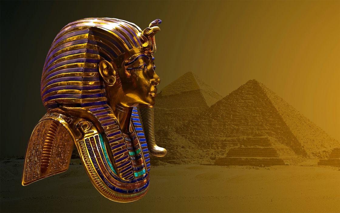 Tutankhamun mask pyramid egypt wallpaper