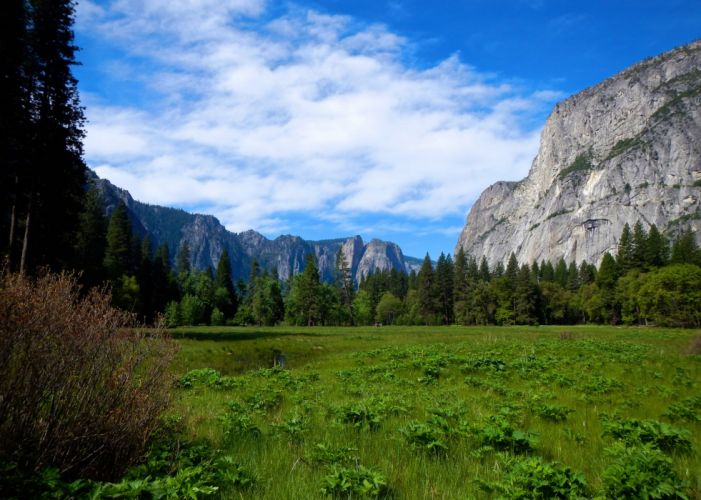 Yosemite National Park mountains golf landscape wallpaper