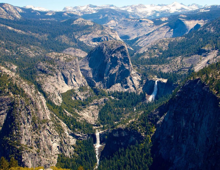 Yosemite National Park mountains waterfall   d wallpaper