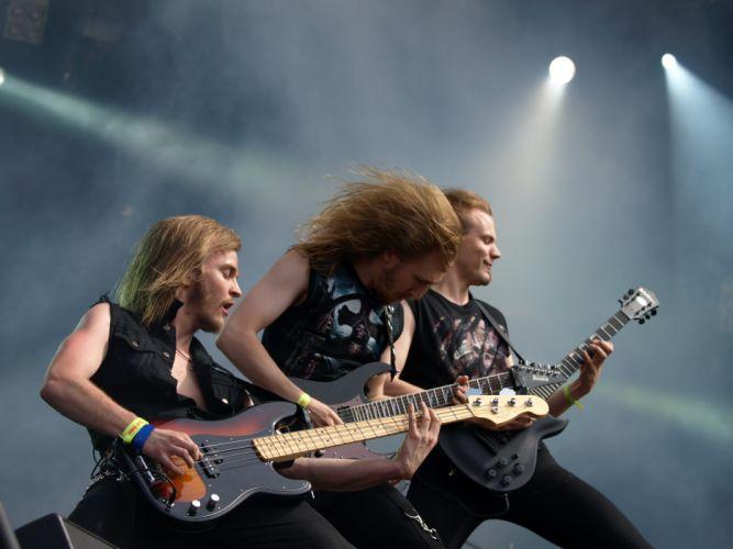 Battle Beast heavy metal concert guitar d wallpaper
