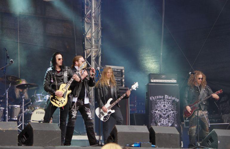Chrome Division heavy metal concert guitar f wallpaper