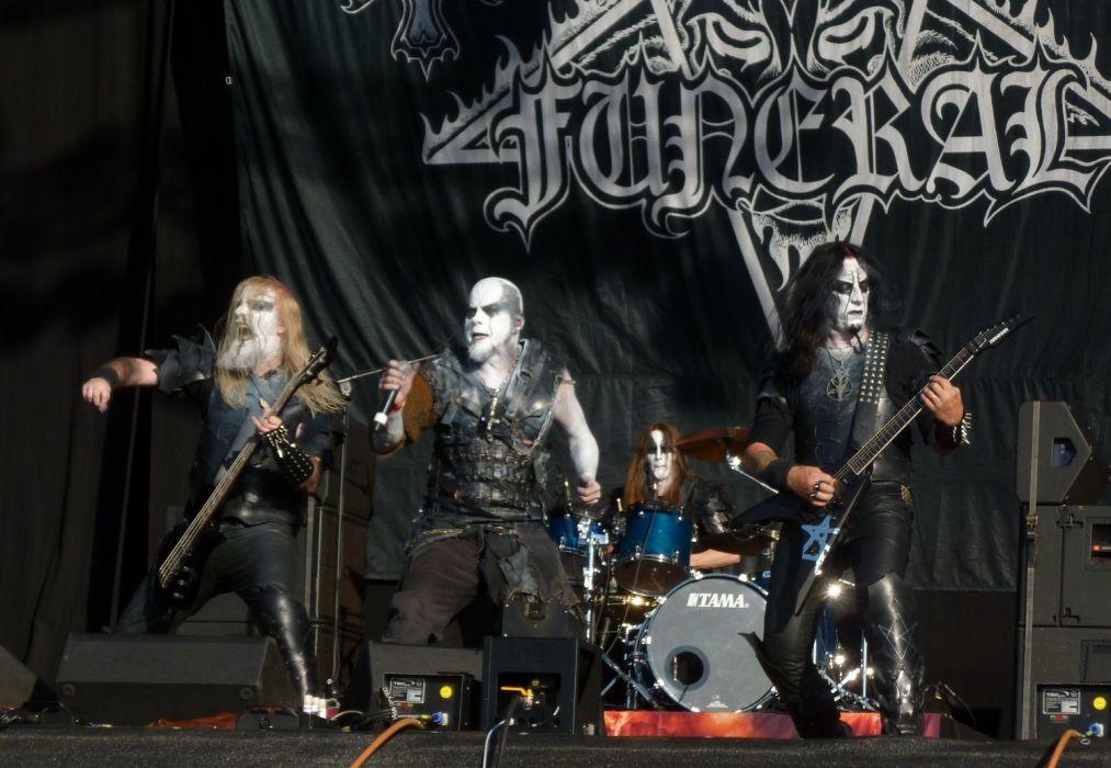 Dark Funeral Black Metal Heavy Concert Guitar R Wallpaper