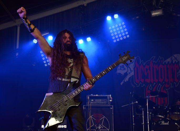 Destroyer 666 black metal heavy concert guitar v wallpaper