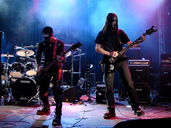 Dies Sephirah black metal heavy concert guitar d wallpaper