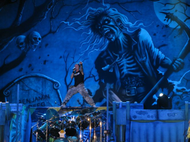 IRON MAIDEN heavy metal concert drums d wallpaper