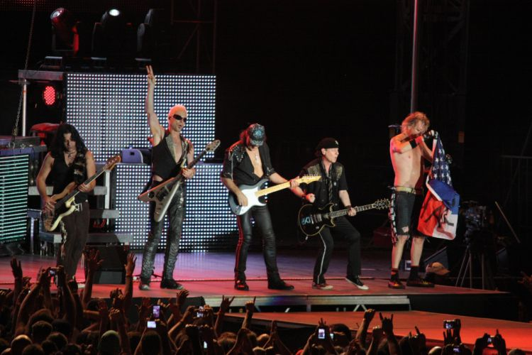 Scorpions heavy metal concert guitar e wallpaper