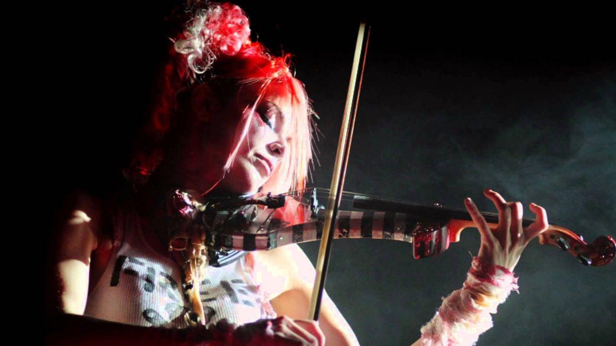 Emilie Autumn Liddell music singer songwriter poet violinist industrial rock redhead glam violin    r wallpaper