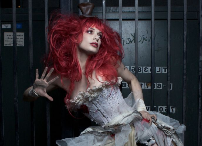 Emilie Autumn Liddell music singer songwriter poet violinist industrial rock redhead glam g wallpaper