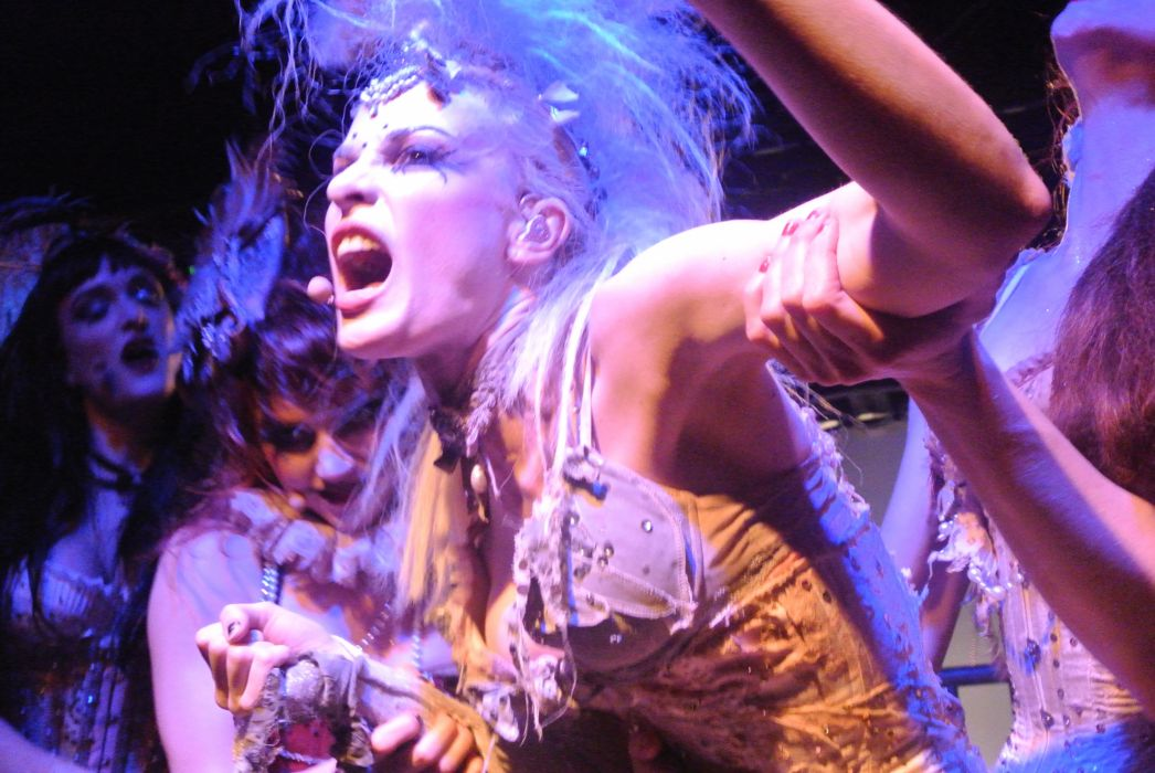 Emilie Autumn Liddell music singer songwriter poet violinist industrial rock redhead glam    hd wallpaper