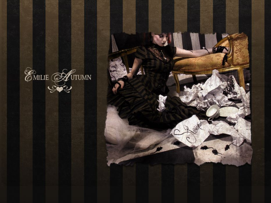 Emilie Autumn Liddell music singer songwriter poet violinist industrial rock redhead glam  b wallpaper