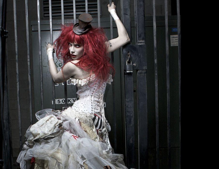 Emilie Autumn Liddell music singer songwriter poet violinist industrial rock redhead glam  r wallpaper