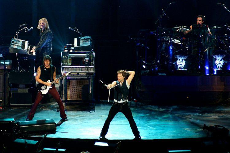 Bon Jovi pop metal heavy hard rock concert f wallpaper