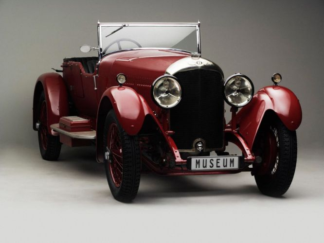 1928 Bentley Sports Four-seater by Vanden Plas retro wallpaper