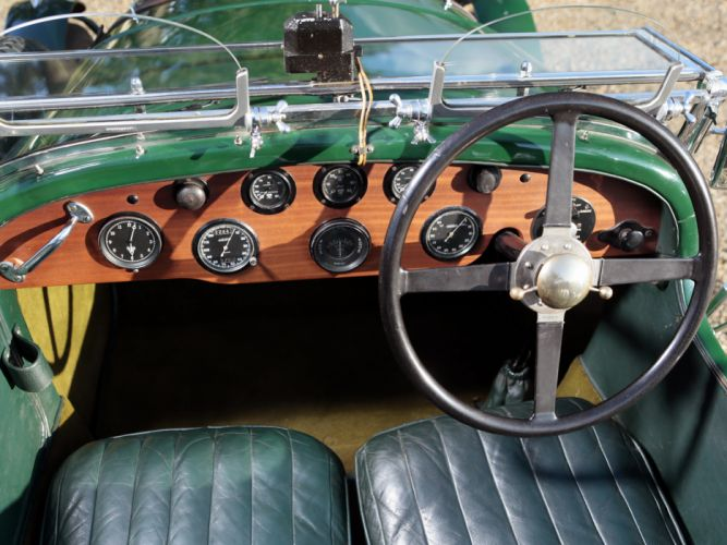 1929 Bentley Le-Mans Tourer by Vanden Plas retro interior f wallpaper
