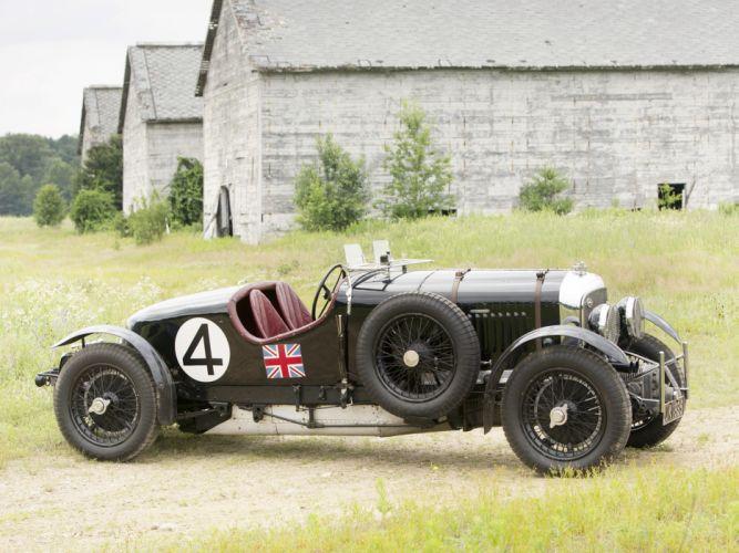 1931 Bentley Supercharged Le-Mans Blower by Vanden Plas retro race racing g wallpaper