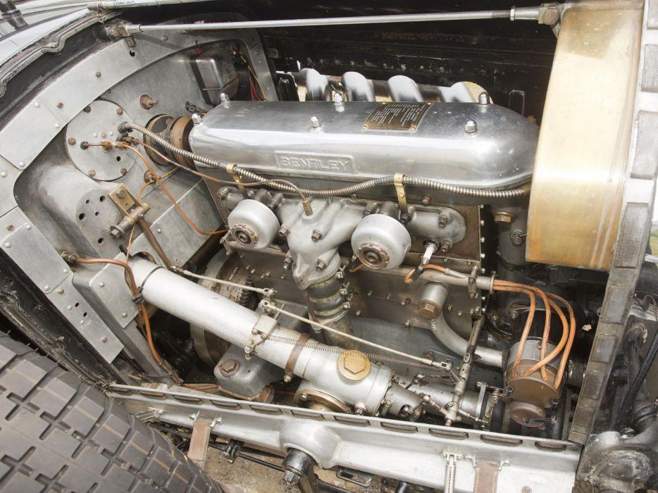 1931 Bentley Supercharged Le-Mans Blower by Vanden Plas retro race racing engine   j wallpaper