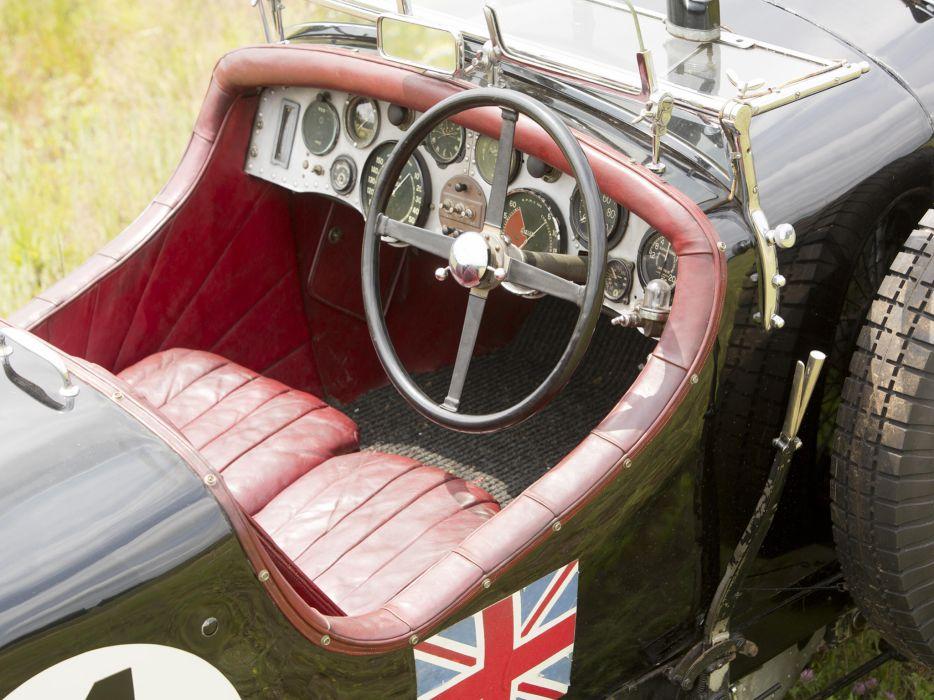 1931 Bentley Supercharged Le-Mans Blower by Vanden Plas retro race racing interior  y wallpaper