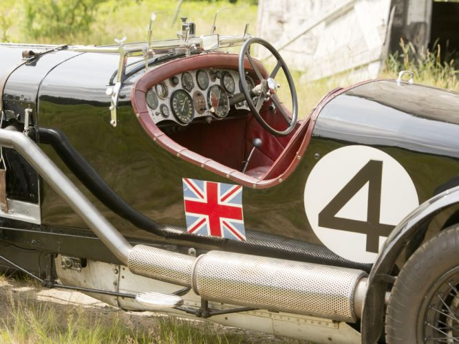 1931 Bentley Supercharged Le-Mans Blower by Vanden Plas retro race racing interior j wallpaper