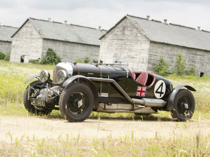 1931 Bentley Supercharged Le-Mans Blower by Vanden Plas retro race racing hd wallpaper