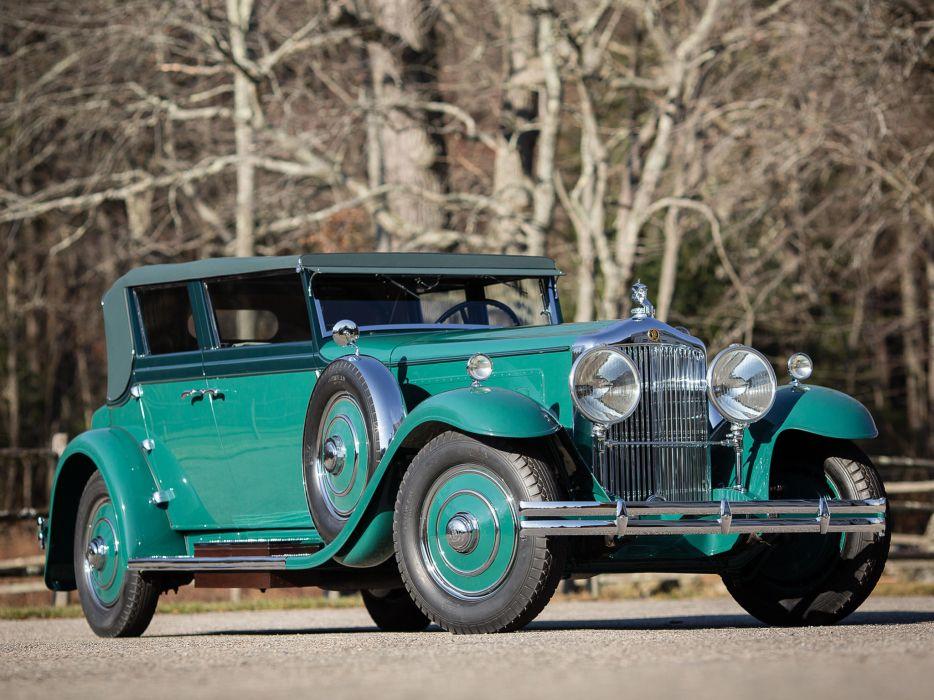 1931 Minerva 8AL Rollston Convertible Sedan retro luxury  h wallpaper