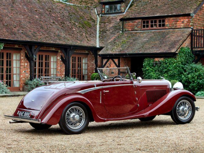 1934 Bentley Drophead Coupe by Vanden Plas retro luxury convertible c wallpaper