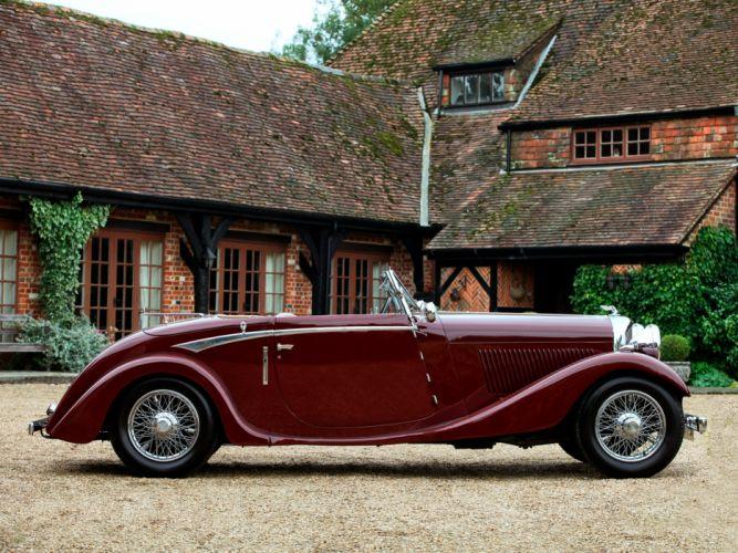 1934 Bentley Drophead Coupe by Vanden Plas retro luxury convertible g wallpaper