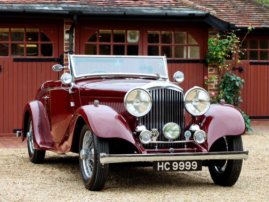 1934 Bentley Drophead Coupe by Vanden Plas retro luxury convertible  f wallpaper